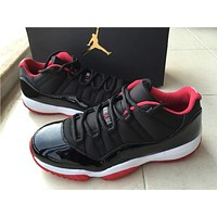"Air Jordan 11 Low ""Bred""Basketball Shoes 41-47"