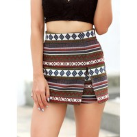 Feeling Different Aztec Print Skort - Multi