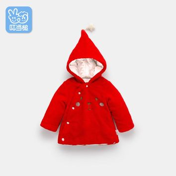 Dinstry Newborn autumn winter children's padded coat baby jacket Boys Girls thicken baby's cotton Overcoat