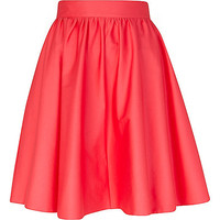 River Island Womens Pink high waisted full skater skirt