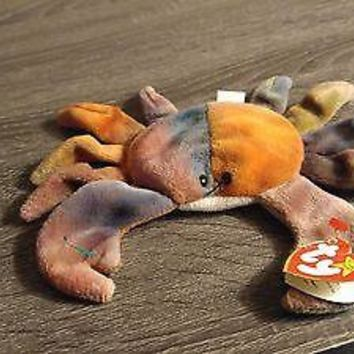 Ty Beanie Baby CLAUDE the CRAB, Ty-Dye, September 3, 1996, PVC errors Style 4083
