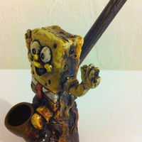 Tobacco Hand Made Pipe, Sponge Bob Design