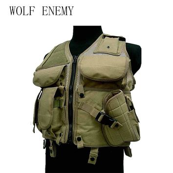 Tactical Mesh Vest Airsoft Camouflage Men's Pockets Outdoor Hunting Fish Vest Sport Photographer Waistcoat Sleeveless Jacket