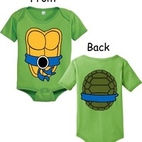 Teenage Mutant Ninja Turtles Green Costume Infant Baby Onesuit Romper