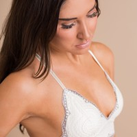 William Lace Bralette (Ivory)