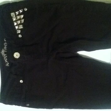 Almost Famous- Black Studded Skinny Jeans- Size 1 and 3
