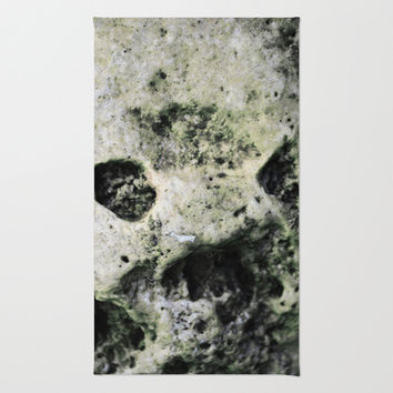 STONE SKULL Area & Throw Rug by 7NTHRISE