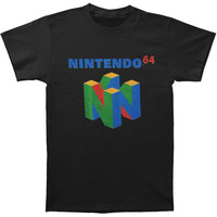 Nintendo Men's  N64 Logo T-shirt Black