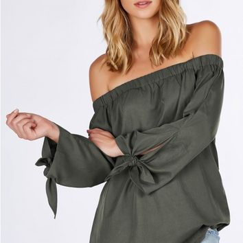 Tattle Tale Off Shoulder Tunic