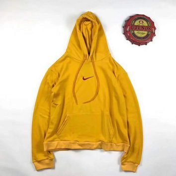 VXL8HQ NIKE Print Women's Long Sleeve Hoodies Sweater Yellow G-A-XYCL