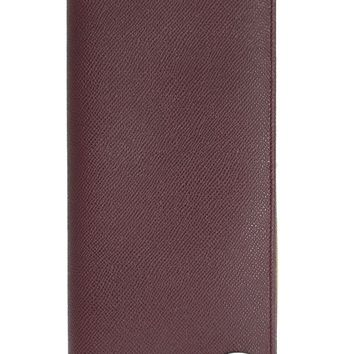 Dolce & Gabbana Bordeaux Dauphine Leather Bifold Document Holder