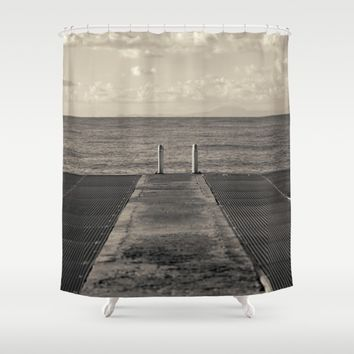 Look to Horizon Shower Curtain by Cinema4design | Society6