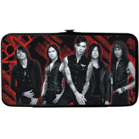 Black Veil Brides Women's Group Pose 10 & Text Girls Wallet