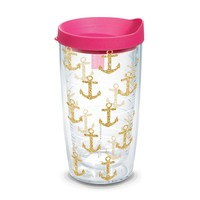 Simply Southern® Gold Anchors 16oz Tumbler by Tervis