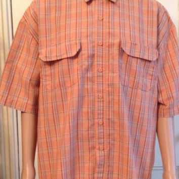 Field and Stream Shirt Mens Size XXL 2XL Mesh Cotton Poly Short Sleeve Button