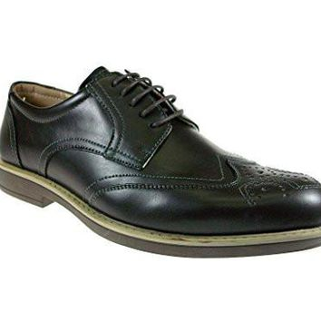Men's Edison17 Wing Tip Lace Up Oxford Dress Shoes