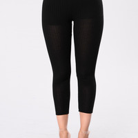 Can't Ignore Me Leggings - Black