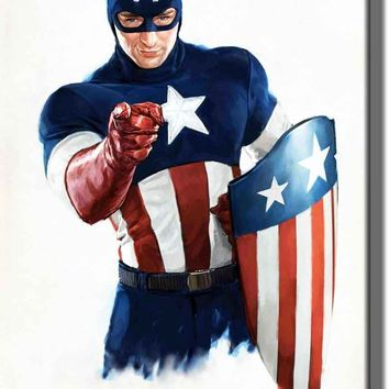 Captain America Picture on Acrylic , Wall Art decor, Ready to Hang!