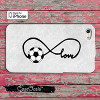 Soccer Love Infinity Symbol Tumblr Inspired Cute iPhone 4/4s Case and iPhone 5 and 5s and 5c Case And Wallet Case and iPhone 6 and 6 Plus +