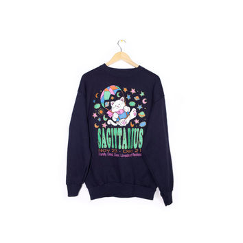 vintage sagittarius astrology cat sweatshirt