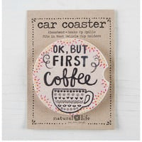 Natural Life Car Coaster - Coffee