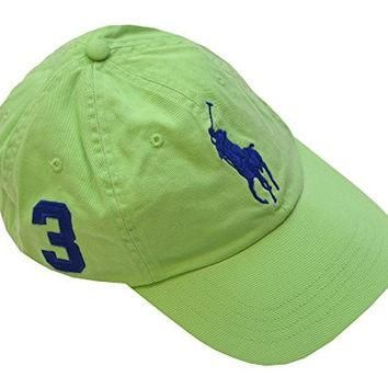 Polo Ralph Lauren Men Big Pony Logo Hat Cap (One size, Hampton Lime/Navy)