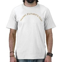 Gold Happy Father's Day Text Design T-shirts from