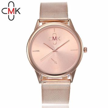 CMK Watches Ultra Thin Steel Mesh Belt Watch Fashion Casual Women Dress Watch Ladies Dress Wristwatches Relogio Feminino