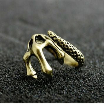Gothic Punk Rock Rings World of Warcraft Skull for Men ML1007