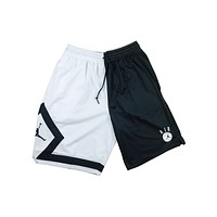 Air Jordan Men's DNA Distorted Bulls Basketball Shorts Black White