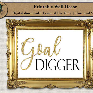Single Image digital download Girl Boss Wall Art Decor Goal Digger Graphic Art Home Decor Bedroom Office Home