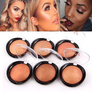Miss ross metallic Bronzer Blush Palette face makeup Cheek Color Baked Blusher colorete Professional paleta blush powder MS003