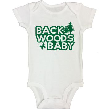 """Cute Baby Bodysuit """"Back Woods Baby"""" RB Clothing Co."""