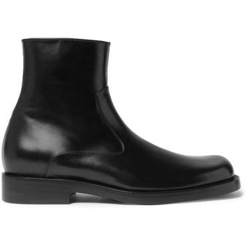 ONETOW balenciaga leather zip up boots 2