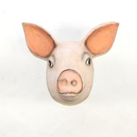 The Mache Pig | Pig Head | Faux Taxidermy | Paper Mache Animal Heads