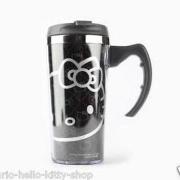 NEW AUTHENTIC SANRIO HELLO KITTY STAINLESS STEEL COFFEE MUG CUP chic travel