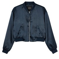Monki | View all new | Nicole satin bomber