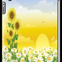 Sunny Day, Sunflowers , Butterflies, Birds , White Flowers iPad Case by AdrianeJ