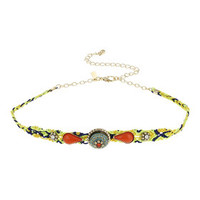 Stone Threaded Choker - Multi