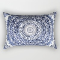 COLD WINTER MANDALA Rectangular Pillow by Nika
