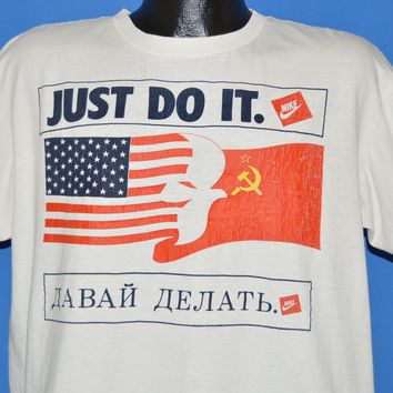 90s Nike USA Russia Peace Just Do It t-shirt Large