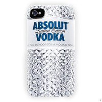 Absolute Vodka Drink Alcohol Bottle For iPhone 4 / 4S Case