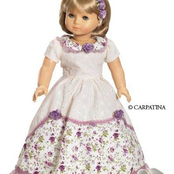"Victorian Romance Ball Dress with Hair Accessories and Shoes, fits 18"" American Girl Dolls"