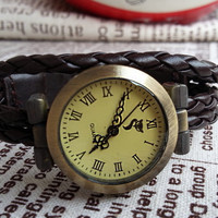 leather Watch- Wrist Watch,Tendy Style Leather Roma Digits watch