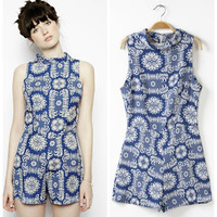 Print Jumpsuit Ladies Romper [6048482049]