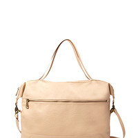 FOREVER 21 Textured Faux Leather Satchel