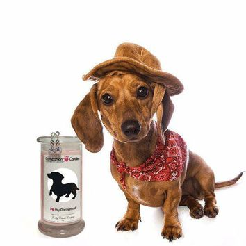I Love My Dachshund! - Companion Candles