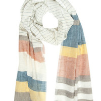 Bizualem: Hand-loomed Color Stripe Scarf