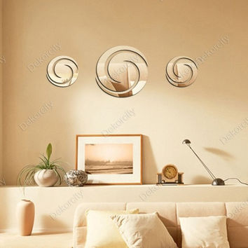 Mirror Decoration Crystal Relief Sculpture Wall Sticker [6283170182]