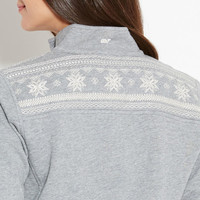 Snowflake Embroidered Shep Shirt